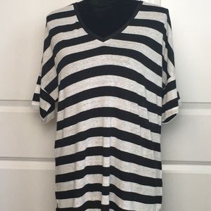 NYDJ Striped Short Sleeve Top